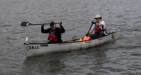 The boys from the Hunter Valley had a fun paddle in the open canoe
