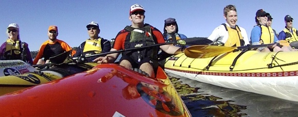Team Fat Paddler and friends out for a leisurely paddle on Sydney's Middle Harbour