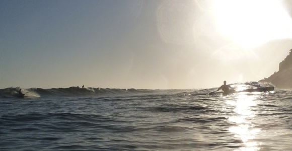 Early morning surf at the Bower point break, Manly Beach