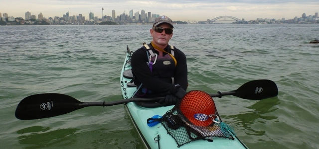 Jason Beachcroft, paddling around Australia