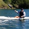 Team Fat Paddler member Mick Rees testing the Fenn Blue Fin
