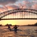 Sydney Harbour dawn as Team Fat Paddler set-off for Manly